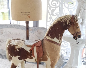Big antique brocante horse around 1900 wooden children's toy Horse