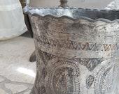 Antique Cauldron Inlay Pot
