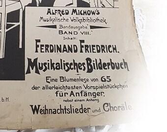 Altes Notenheft um 1910 Musikalisches Bilderbuch