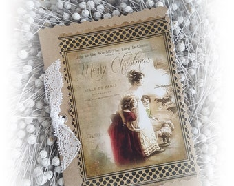 021 Pretty Greeting Card/Christmas Card 021