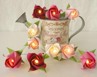 Lichterkette Lavendel Rose Edelweiss Nachtlicht Tischdeko Etsy