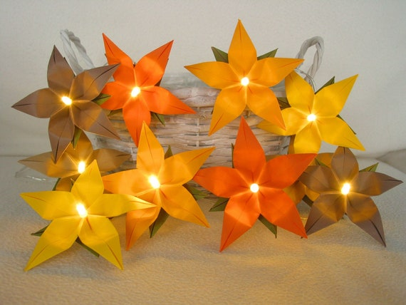 Lichterkette orange-braun LED Lampe für Wohnzimmer | Etsy