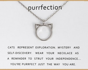 Cat Necklace - Purrfection Chain, silver Plated