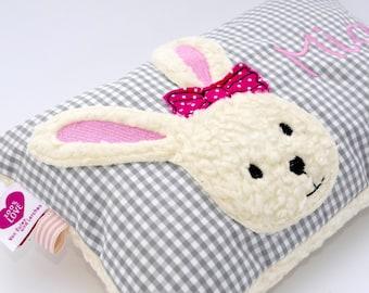 Cuddly pillow bunny bunny girl wishname baptism pillow birth pillow - cuddly pillow pillow with name