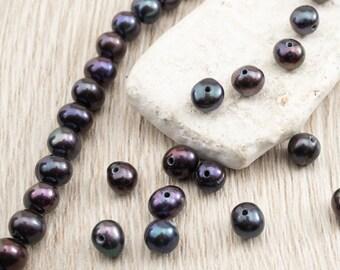 Einzelne perle gebohrt | Etsy
