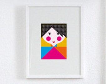"Philuko print ""Rosy cheeked"""