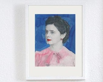 "Philuko print ""Mika"" Blue din A4"