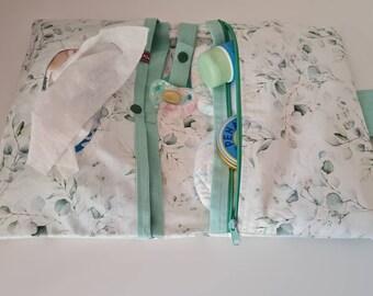 Diaper bag, diaper bag eucalyptus