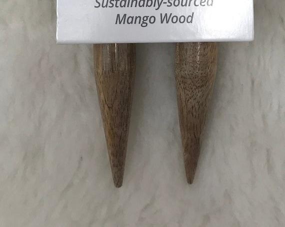 LYKKE  Mango Wood 36-Inch Fixed Circular Knitting Needles - US35/19mm