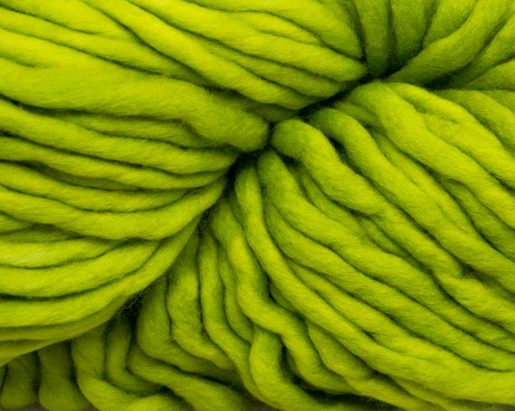 Malabrigo - Rasta - APPLE GREEN - Super Bulky Yarn, 100% Merino Wool, Hand Dyed, Mulesing Free