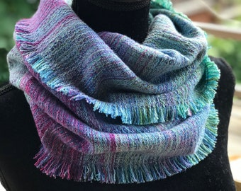 Handdyed and Handwoven Infinity Scarf