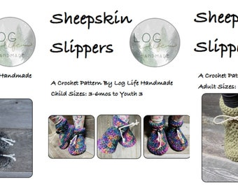 Bundle Sheepskin Slipper PDF Pattern