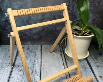 Funemstudio Small Loom with 2 Shuttles, 1 Heddle Bar & Stand