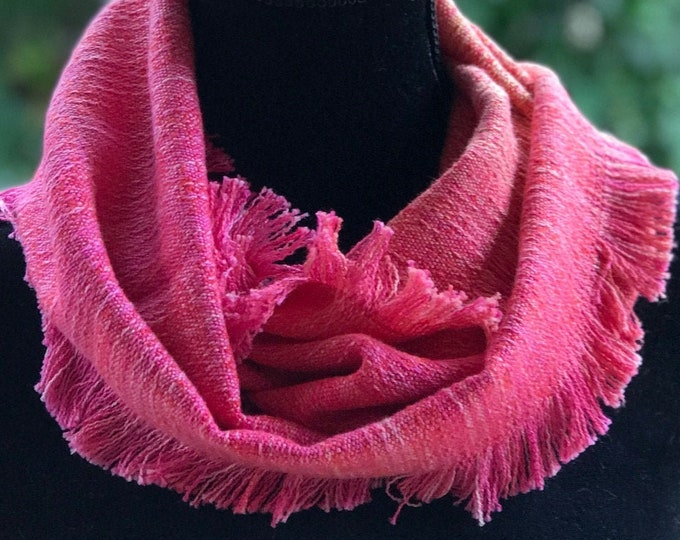 Hand dyed and Handwoven Infinity Scarf