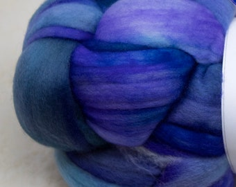 Malabrigo - Nube - AZULES - Merino Wool Roving, Comber Top, Spinning, Felting, Weaving, Hand Dyed, Jumbo Knitting