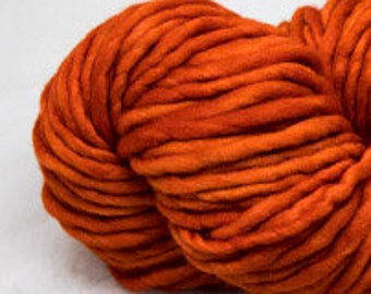 Malabrigo - RASTA - GLAZED CARROT - Super Bulky Yarn, Thick Yarn, Quick Knit, Textured Stitches, Hand Dyed Yarn, Mulesing Free
