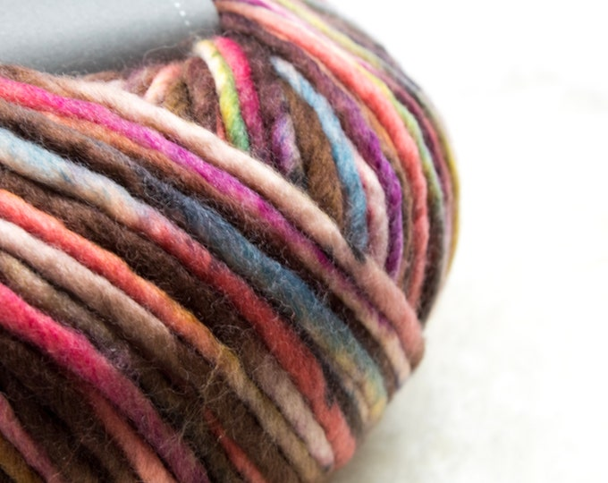 Featured listing image: Bulky Yarn, Thick Yarn, Quick Knit, Textured Stitches, Hand Dyed Yarn, Mulesing Free, Dyeing House Gallery (DHG) Piuma DRAGON