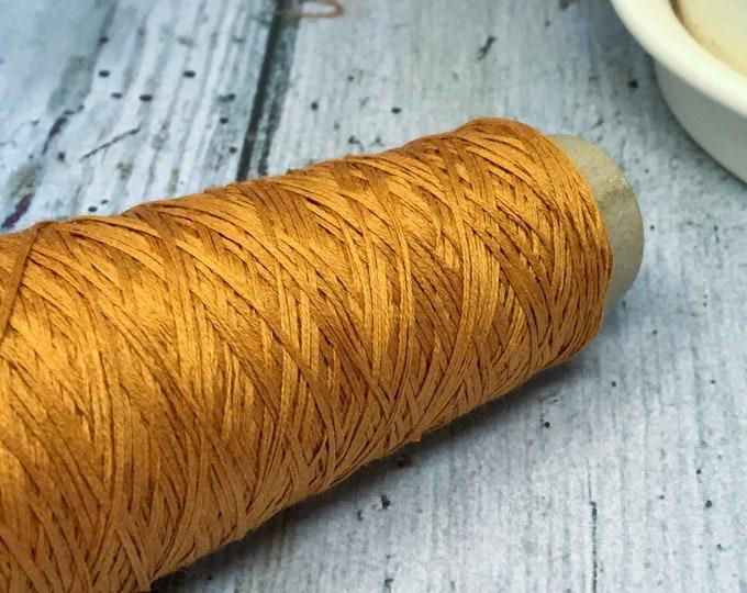 Cotton Gima - Lace Weight Yarn - Burnt Orange