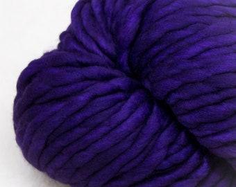 Malabrigo - Rasta - PURPLE MYSTERY - Merino Wool, Super Bulky Yarn, Thick Yarn, Quick Knit, Textured Stitches, Hand Dyed Yarn, Mulesing Free