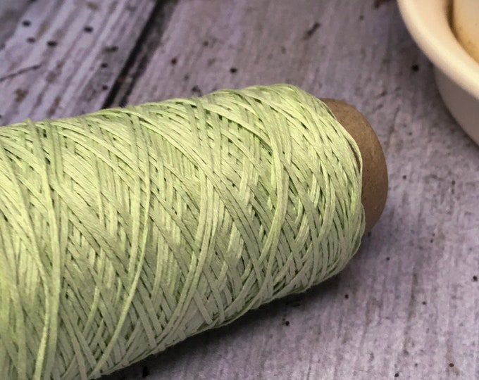 Cotton Gima - Lace Weight Yarn - Green