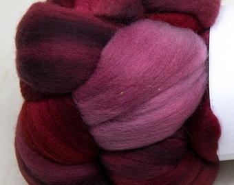 Malabrigo - Nube - CEREZA - Merino Wool Roving, Comber Top, Spinning, Felting, Weaving, Hand Dyed, Jumbo Knitting
