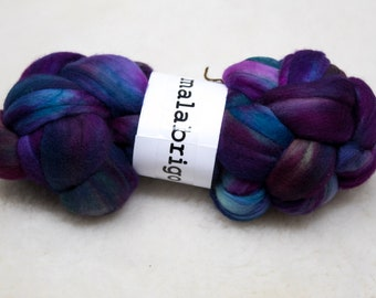 Malabrigo - Nube - BOREAL - Merino Wool Roving, Comber Top, Spinning, Felting, Weaving, Hand Dyed, Jumbo Knitting