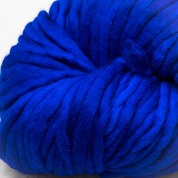 Super Bulky Yarn, Thick Yarn, Quick Knit, Textured Stitches, Hand Dyed Yarn, Mulesing Free, Malabrigo Rasta - Matisse Blue