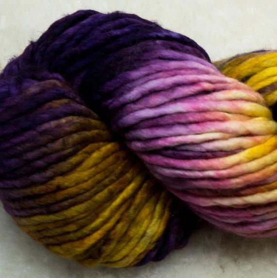 Baah Yarn Sequoia - 100% Superwash Merino Wool - 85 yards - 125 grams - Artisanal Hand Dyed - Raisin The Bar
