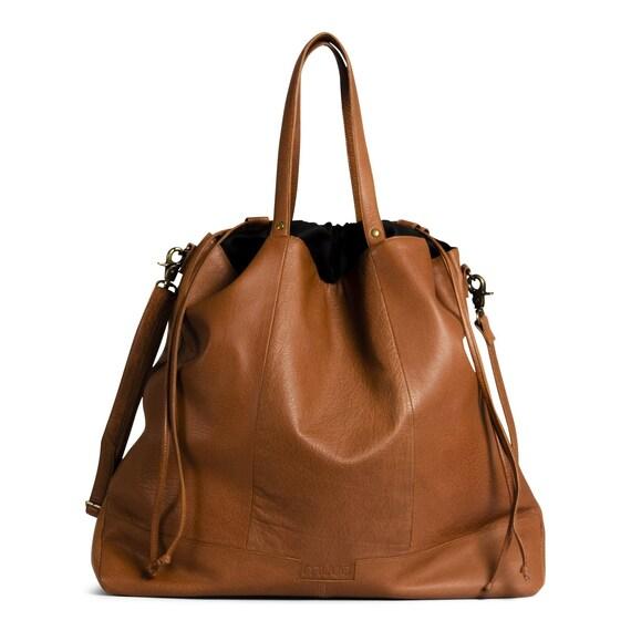 MUUD Lofoten XL - Luxury Leather Project Bag - Height/42cm – Width/52cm – Bottom Width/15cm