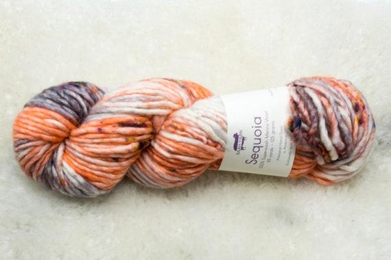 Baah Yarn Sequoia - 100% Superwash Merino Wool - 85 yards - 125 grams - Artisanal Hand Dyed - Silver Lady