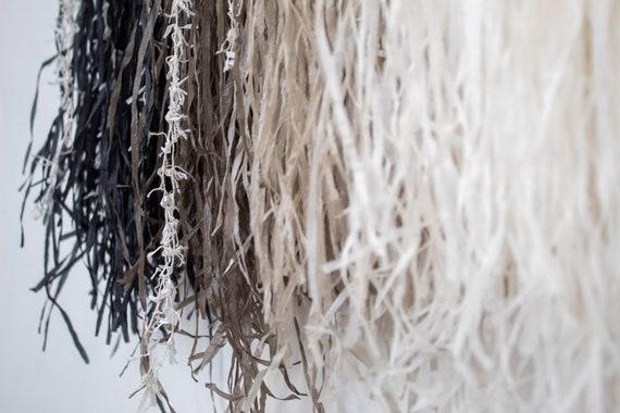 Macrame Driftwood Wall Hanging -Chromatic Linen Paper