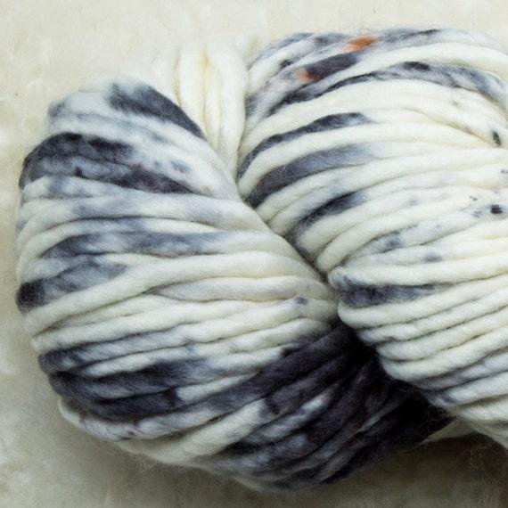 Baah Yarn Sequoia - 100% Superwash Merino Wool - 85 yards - 125 grams - Artisanal Hand Dyed - Smoke N' Diamonds