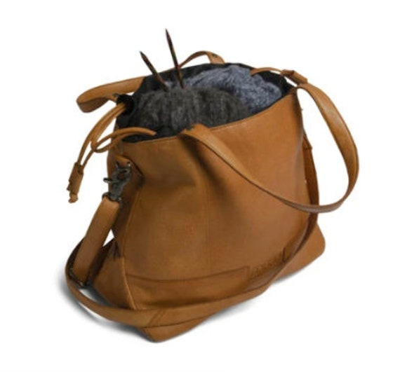 MUUD Lofoten - Luxury Leather Project Bag - Height/ 26cm – Upper width /34 cm – Bottom width /14 cm