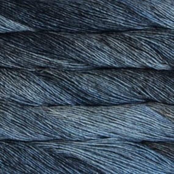 Malabrigo Washted - PLOMO, Worsted Yarn, Textured Stitches, Hand Dyed Yarn, Mulesing Free
