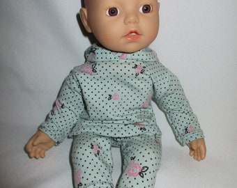 Puppenkleidung für Baby Born  43cm   Hellblaues PoloShirt Babypuppen & Zubehör