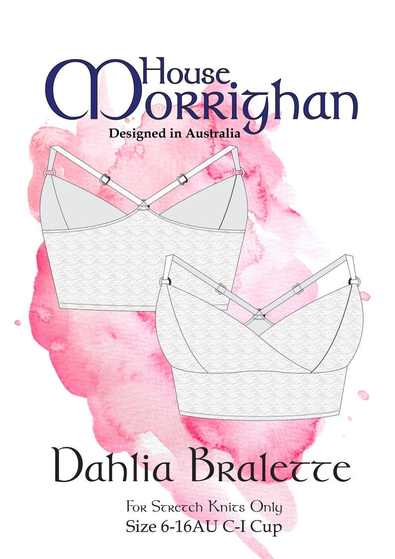 f3962e9169 House Morrighan Dahlia Bralette 6-16 PDF Sewing Patterns