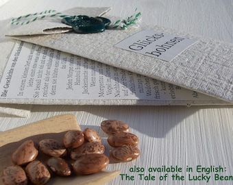 The Lucky Beans, German Fairy Tale in Handmade Paper Bag for Gifting