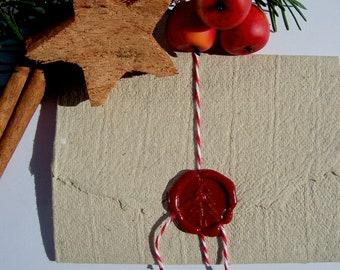 Christmas Poem For Gifting, Handmade Paper Envelope Sealed, Nostalgic Christmas-Letter