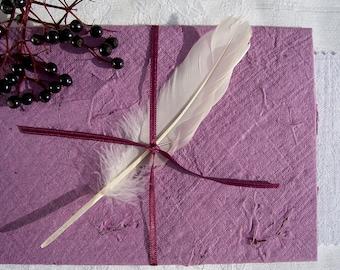 Fairy-Tale Stationary Mother Carey Handmade Paper, Deckle-Edged Stationary Elder-Bush