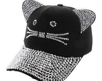 Front Fully Studded Baseball Cap with Multi Color Studs Everyday headwear  Trucker Ball Cap in Black 8bb257fbfb1