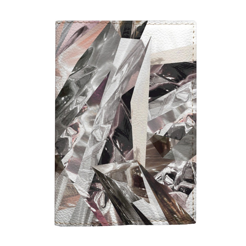 f9d41b0fb3a2 Broken glass passport holder for documents eco leather material marble  design travel cover gift idea for woman girls