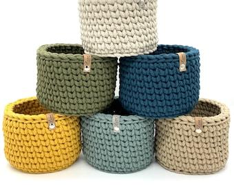Utensilo Crochet Basket Jewelry Bowl Storage Basket 17 x 12 cm