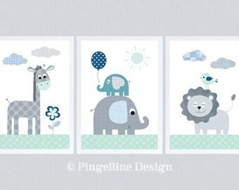 Kinderbilder fürs kinderzimmer giraffe  Elefant bilder fuer kinderzimmer   Etsy