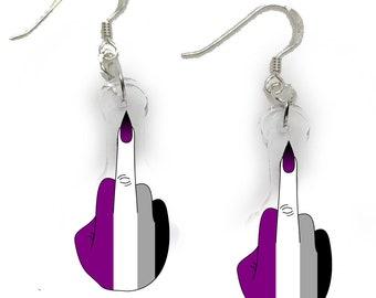 Asexual - Pride Punk Earrings
