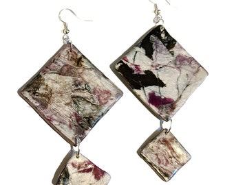 Asexual - Marble Clay Earrings