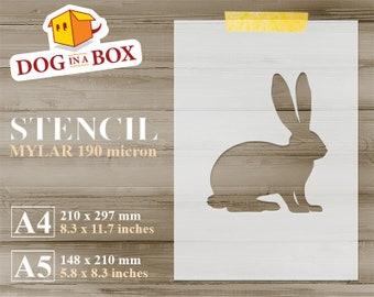 Rabbit Stencil Animal Farm For Painting A4 A5 DIY Reusable 8x10