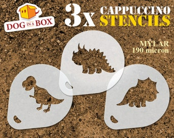 A3 Taille Pochoir - Medium Tyrannosaurus Rex Forme Dinosaur Mylar Airbrush Peinture murale Art Pochoir deux