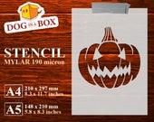 Pumpkin stencil n.5, Halloween stencil, spooky pumpkin stencil, stencil for wall, Stencils for wood signs, DIY stencil, reusable stencil