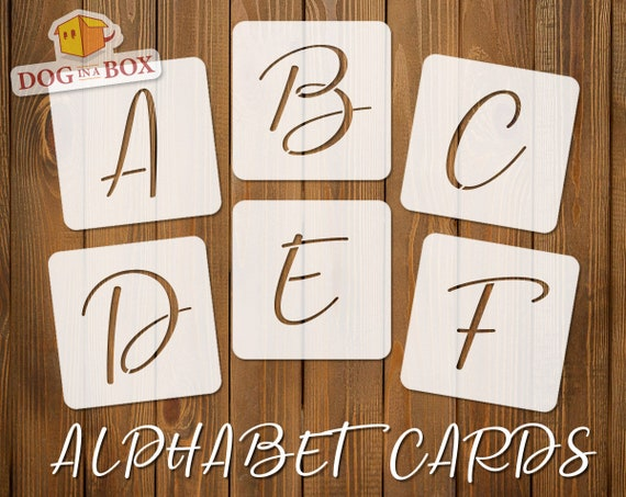 individual letters A to Z stencils for painting Alphabet stencils font n.13 single letter uppercase italic stencils Wood signs