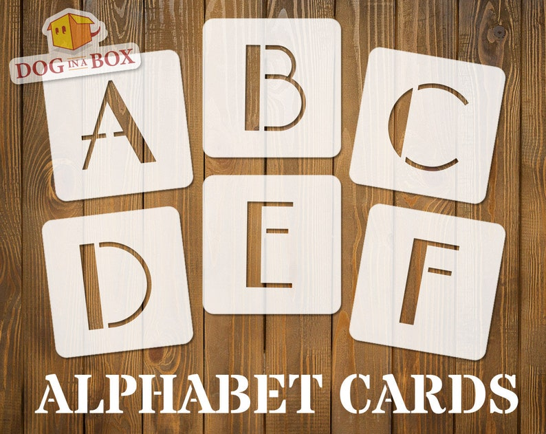Alphabet stencils font n 6 - uppercase, individual letters A to Z, single  letter stencils, stencils for painting, stencils, Wood signs